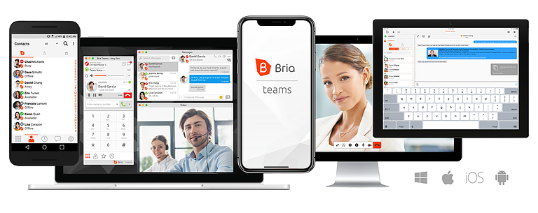 Sign up today for a free Bria Teams trial