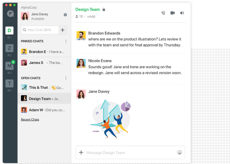 Flock provides team collaboration
