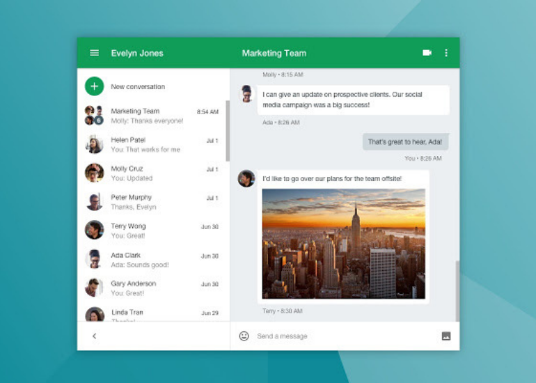Google Hangouts- a common tool for video chat and messaging