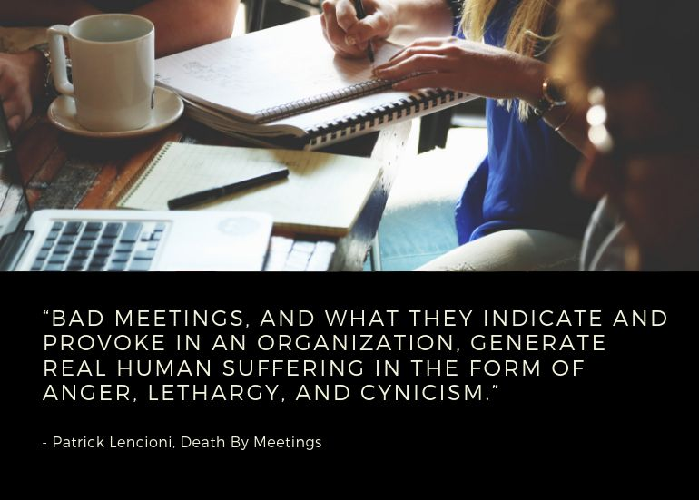 Bad meetings result in low productivity