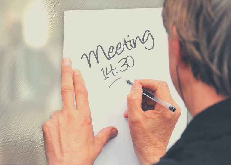 Send out meeting agendas in advance