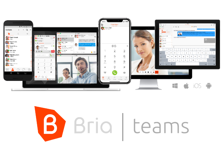 Bria Teams allows synchronized team communications