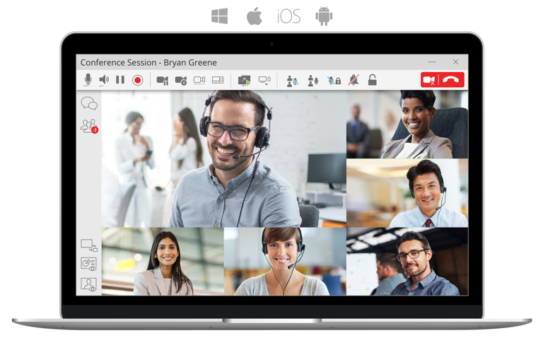 Bria Teams Pro offers dedicated virtual meeting room