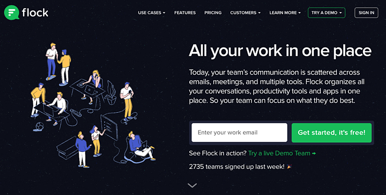 Flock keeps your team communication in one place.
