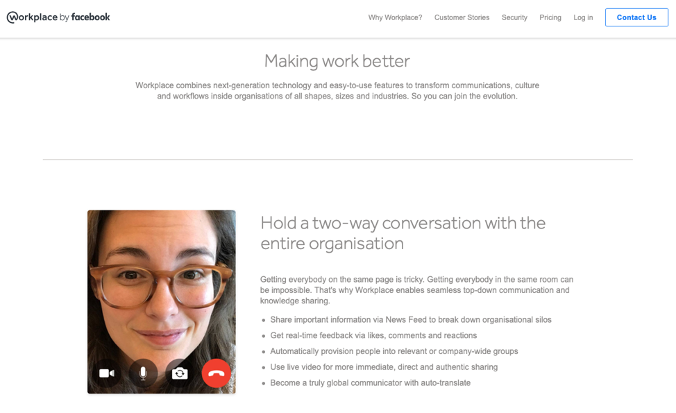 Workplace by Facebook is newly launched but makes for a great collaboration tool.