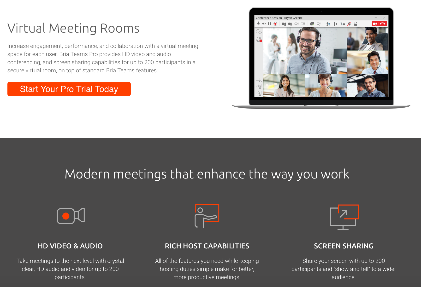 Bria Teams Pro makes virtual meetings easy